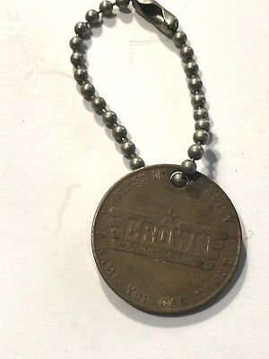 Vintage Crown Gasoline-Oils George Washington Keychain A Name You Can Trust