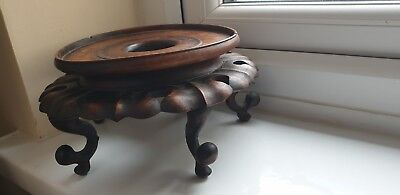 Very Fine Large Antique Chinese Hardwood Vase Stand A/f