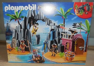 PLAYMOBIL Pirates 6679 Piraten-Schatzinsel, bespielt