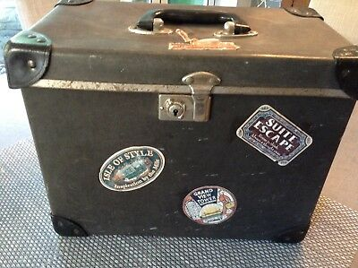 Small vintage leather hat box / suitcase.