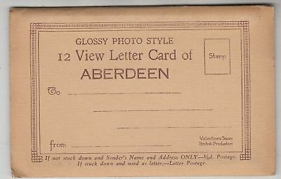 ABERDEEN - Scotland - an old letter card with twelve postcard size views