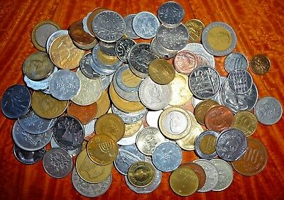 Mixed Lot of International Coins (>1 lb.) Current/Obsolete/Circulated #56