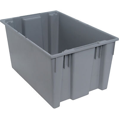 Quantum Stack and Nest Tote Bin-29 1/2in x 19 1/2in x 15in Size Gray #SNT 300 G