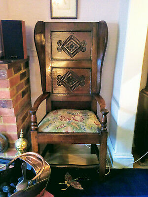 Early George III oak wainscot armchair