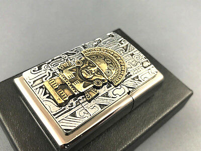 ZIPPO Magical Maya Tumi Emblem very rare collectible lighter 14K Gold