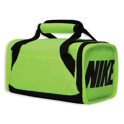 New ~ Nike Brasilia Insulated Duffel Lunch Bag in Neon Green ~ New