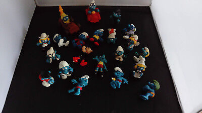 Smurfs/schlumpf/schtroumpf/puffi-Set Of 21 Smurf Figures All Missing Parts