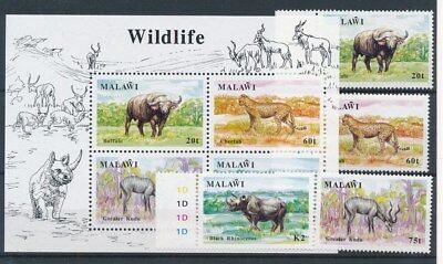 [88074] Malawi Fauna good set + sheet Very Fine MNH stamps