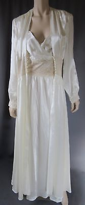 Vintage Femsette 1930's Bias Cut Satin/lace Peignoir Set Wedding