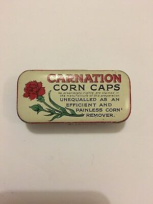 VINTAGE Carnation Corn Caps Tin - Collectable