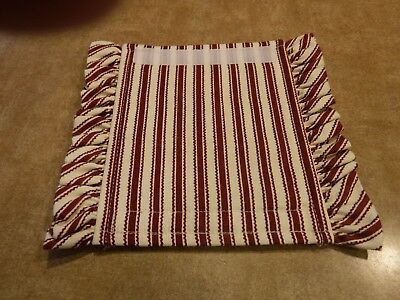 Longaberger Sweetheart Fabric Handle Gripper RED TICKING NEW NO BAG