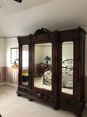 Armoire, French,95 inches in width, 22 inches in depth, cash and carry
