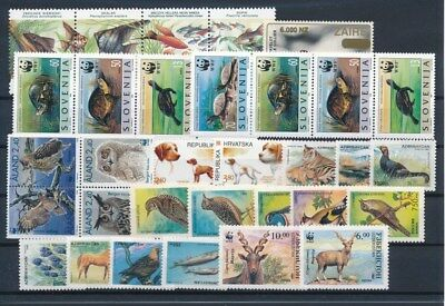 [G87417] World Fauna good lot Very Fine MNH stamps