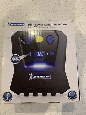 Michelin High Power Wheel Tyre Inflator Pump Electric Air Compressor 12V Display