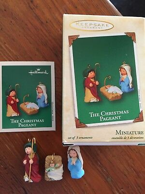 "Hallmark  Miniature Ornament 2003 ""The Christmas Pageant"" Set of 3"
