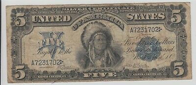$5 Chief 1899 Silver Certificate