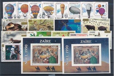 [G88653] Zaire good lot Very Fine MNH stamps