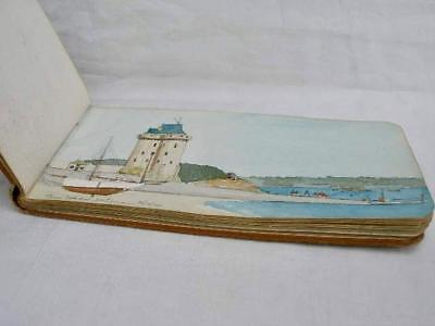 Interesting 1930 Personal Reeves' Pocket Sketchbook of Watercolours With Notes