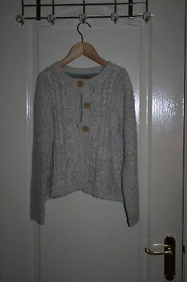 Girl's Mini Boden cable knit cardigan - age 9-10Y