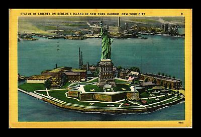 Dr Jim Stamps Us Statue Of Liberty Bedloes Islands New York Harbor Postcard