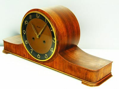 Pure Art Deco  Chiming Mantel Clock Kienzle Germany