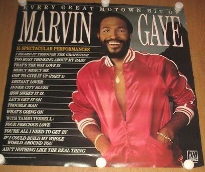 Original MARVIN GAYE Every Great Motown 1983 MOTOWN RECORDS Promotional Poster