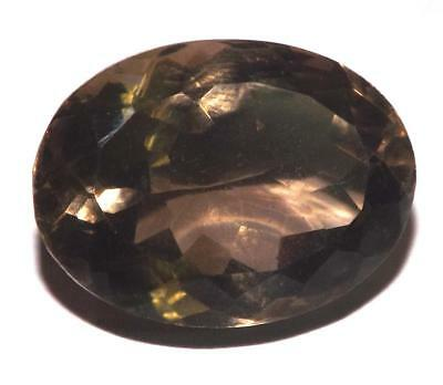 18.45 cts Smoky Quartz 20 x 15 mm Oval Shape Faceted Gemstone #dsq1221