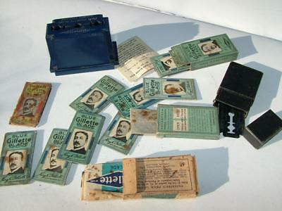 Collection Job Lot Of Antique / Vintage Safety Razor Blades By Gillette - Lot 32