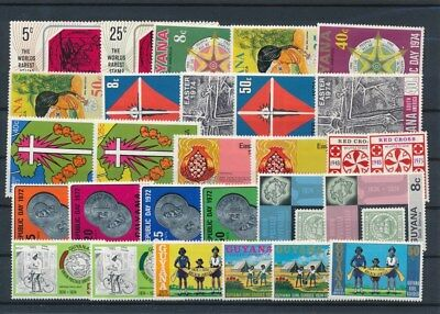 [G126015] Guyana good lot of stamps very fine MNH