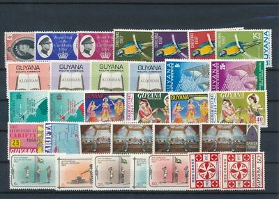 [G126023] Guyana good lot of stamps very fine MNH