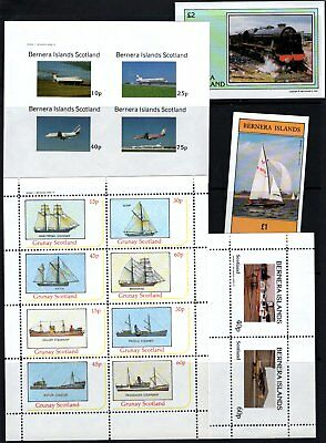 Boats Planes & Train Good Selection  Gb Locals All Mnh Much More Listed