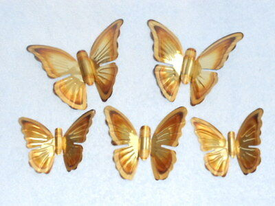 Lot 5 HOMCO metal Gold & Copper color Butterflies wall hangings decor.