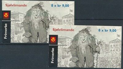 [16811] Norway 2002 : 2x Good Very Fine Adhesive Complete Booklet