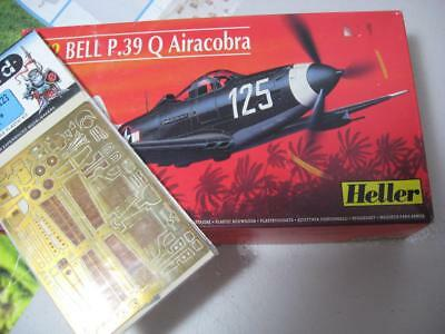 Heller P-39 Airacobra & Eduard etched detail sets 1/72 Model kits perfect