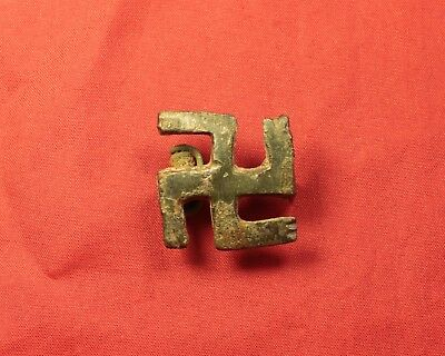 Ancient Roman Bronze Fibula or Brooch, Rare Type!
