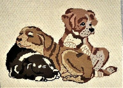 Puppy Dog Labrador Retriever Lab Wall Art Pillow Finished Completed Needlepoint