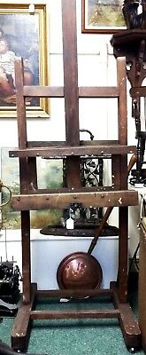 Antique Artist's Large Studio Easel- Newark/ Derby- Picture Display Or Tv Stand?