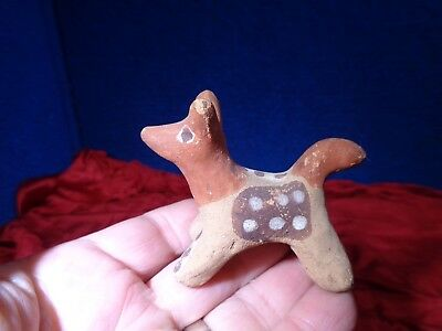 Vintage Native American Pottery Figural Dog