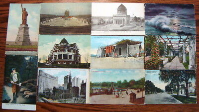 Huge Lot of 1000 c1905-1950 NO CHROME great views from across the United States