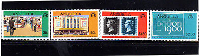 ANGUILLA #371-374  1979  LONDON '80 STAMP EXIBITION        MINT  VF NH  O.G  a