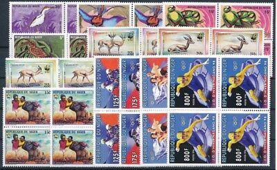 [G47132] Niger : Good Lot of Very Fine MNH Stamps in Blocks of 4