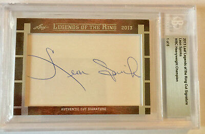 2013 Leaf Legend Of The Ring; Leon Spinks Cut Signature Card 1/6
