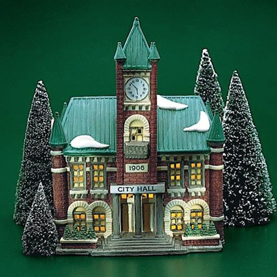 Dept 56 Christmas In The City - City Hall 59692 Retired Wbx Mint