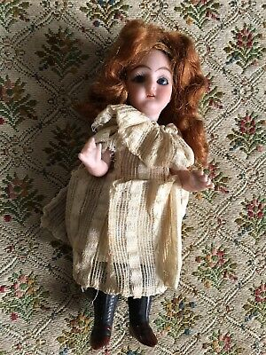 """Antique All Bisque Simon Halbig Doll #890-1  5"""" Tall"""