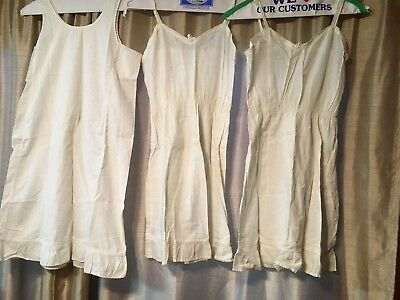 8 Vintage Girls Petticoats Slips Handmade & Branded Mostly Cotton Look ALL Photo