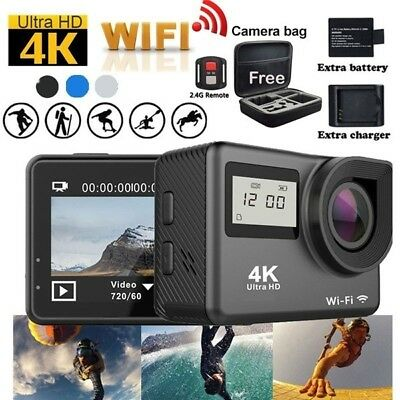 4K Touchscreen Action Camera WiFi Dual Screen