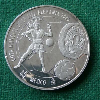 2006  FIFA WORLD CUP 1 Oz SILVER Mexican Coin  Proof AU