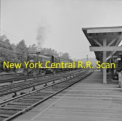 New York Central Railroad (Nyc) Original B&w Negative Rs-1 Engine 8271 In 1964