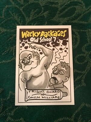 2018 Topps On Demand Wacky Packages Old School FRIGHT GUARD SKETCH 1/1 Williams