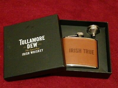 Tullamore Dew Irish Whisky Hip Flask BNEW Boxed